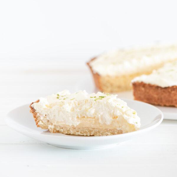 Porción tarta keto lima